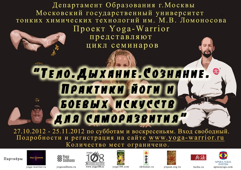 Seminars on yoga and Martial arts